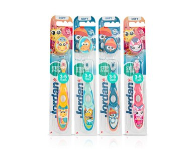 Jordan Step 2 (3-5 ετών) Soft, Παιδική Οδοντόβουρτσα με Βεντούζα, 1τμχ