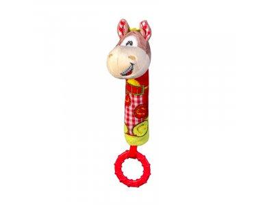"BabyOno Squeaker Pony, Μαλακό παιχνίδι με ήχο και μασητικό, ""Αλογάκι"""