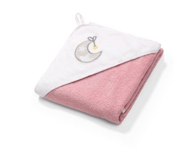 BabyOno Terry Hooded Towel, Πετσέτα με Κουκούλα, Ροζ