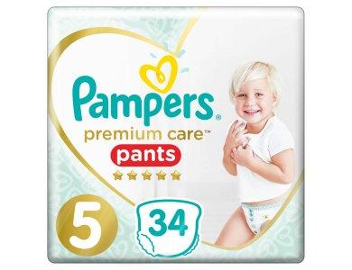 Pampers Premium Care Pants No.5 (12-17kg) Πάνες Βρακάκι, 34τμχ