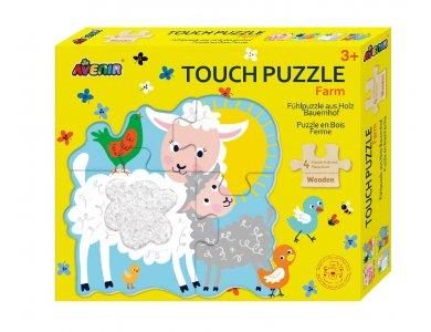 Avenir Touch Wooden Puzzle-Farm, Ξύλινο Παζλ
