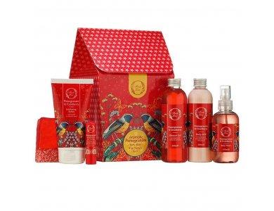 Fresh Line Σετ Aromatic Pomegranate, Αφρόλουτρο - 200ml, Γαλάκτωμα Σώματος - 200ml, Απολεπιστικό Σορμπέ - 150ml, Body Water - 150ml, Σαπούνι - 120g, Θεραπεία Χειλιών - 5,4g