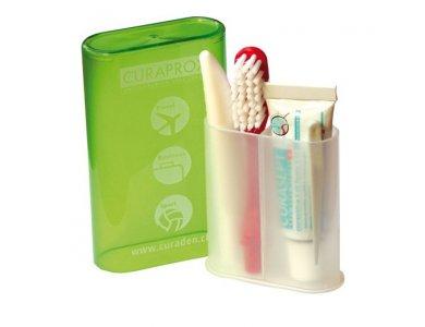 Curaprox TS 261 Travel Set Ιδανικό Σετ για Ταξίδια με Οδοντόβουρτσα CUREN® Super Soft Πολύ Μαλακή,   Οδοντόκρεμα CURASEPT ADS® 705, 5 ml, Oδοντογλυφίδα TP 945 για την Πρόληψη από τη Δημιουργία Πέτρας