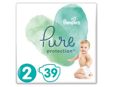 Pampers Pure Protection No.2 (4-8kg) Πάνες, 39τμχ
