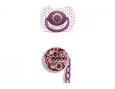 Suavinex Fusion Πιπίλα Σιλικόνης Haute Couture Pink & Κλιπ 4m+