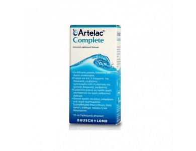 Bausch & Lomb Artelac Complete, Λιπαντικό Οφθαλμικό Διάλυμα σε σταγόνες, 10ml
