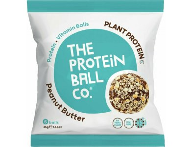 The Protein Ball Co. Plant Protein Peanut Butter Μπαλίτσες Πρωτεΐνης με Φυστικοβούτυρο, 6 Vegan Βalls