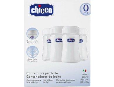 Chicco Natural Feeling, Μπουκάλια Διατήρησης Μητρικού Γάλακτος, 150ml