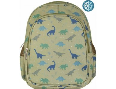 A Little Lovely Backpack Σακίδιο-Τσάντα Πλάτης με Ισοθερμική Θήκη, Dinosaurs, 27x32εκ.