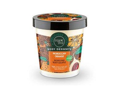 Organic Shop Body Desserts Moroccan Orange, Μαροκινό Πορτοκάλι Σουφλέ Σμίλευσης Σώματος, 450ml