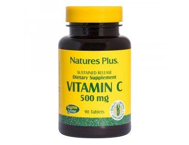 Nature's Plus Vitamin C 500mg Rose Hips 90tabs