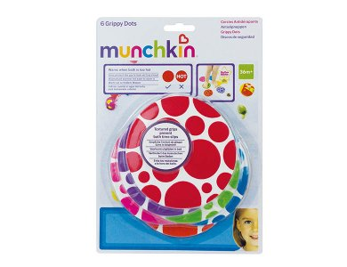 Munchkin 6 Grippy Dots , Αντιολισθητικά Πατάκια Μπάνιου, Σετ 6τμχ