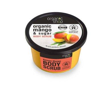 Organic Shop Body Scrub Kenyan Mango, Scrub Σώματος Μανγκο Κένυας, 250ml