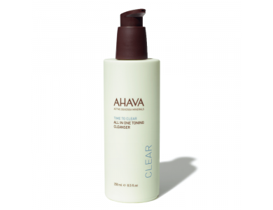 Ahava Time To Clear All-In-One Toning Cleanser, Γαλάκτωμα Καθαρισμού Προσώπου & Ματιών, 250ml