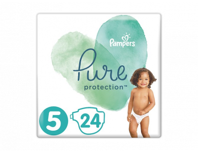 Pampers Pure Protection No.5 (11+kg) Πάνες, 24τμχ