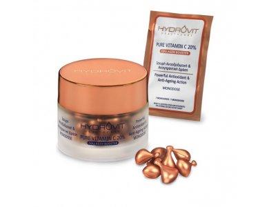 Hydrovit Pure Vitamin C 20% Collagen Booster, 60 μονοδόσεις