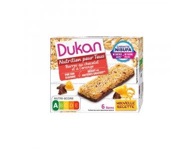 Dukan Μπάρες Βρώμης με Σοκολάτα & Πορτοκάλι, 6τμχ 150gr