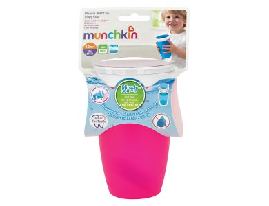 Munchkin Miracle 360 Trainer Cup 12m+, Ροζ 296ml