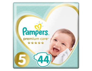 Pampers Premium Care Jumbo Pack No.5 (Junior) 11-16kg Βρεφικές Πάνες, 44τμχ