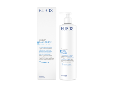 Eubos Liquid Washing Emulsion Blue, Καθημερινός καθαρισμός για Πρόσωπο & Σώμα, 400ml