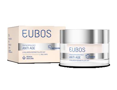 Eubos Anti Age Hyaluron Repair Filler Day, Κρέμα Εντατικής φροντίδας για μείωση των Ρυτίδων με Υαλουρονικό οξύ, 50ml