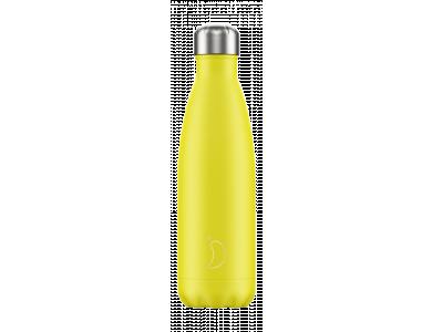 Chillys Ανοξείδωτος Θερμός, Neon Yellow, 500ml