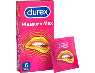 Durex Pleasuremax, Προφυλακτικά Με Κουκίδες & Ραβδώσεις, 6τμχ