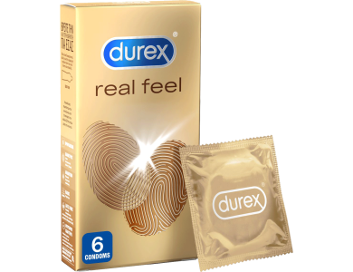 Durex RealFeel, Προφυλακτικά από Προηγμένο Υλικό για πιο Φυσική Αίσθηση Κατά την Επαφή, 6τμχ