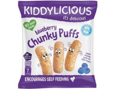 Kiddylicious Blueberry Chunky Puffs Γαριδάκια Μύρτιλο 7m+, 12gr