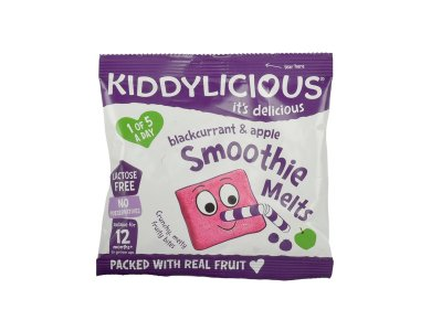 Kiddylicious Smoothie Melts 12m+, Σμούθι Με Φραγκοστάφυλο & Μήλο, 6gr