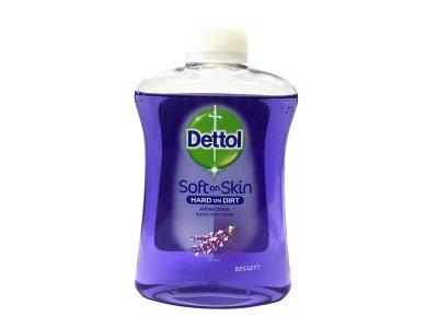 Dettol Soft on Skin Hard on Dirt, Ανταλλακτικό Αντιβακτηριδιακό Υγρό Κρεμοσάπουνο Λεβάντα (Χαλαρωτικό), 250ml