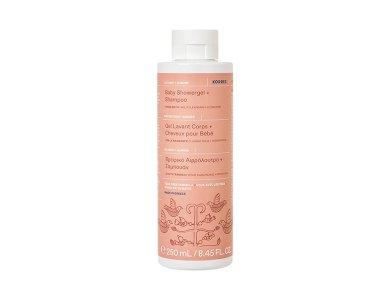 Korres Baby Showergel & Shampoo, Βρεφικό Αφρόλουτρο & Σαμπουάν, 250ml