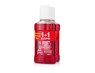 Therasol Plus Promo Pack (1+1 ΔΩΡΟ) Αντιμικροβιακό Στοματικό Διάλυμα με γεύση Κεράσι, 2 x 250ml