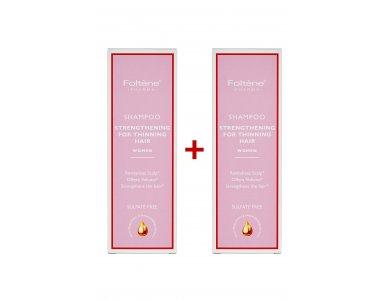Foltène Shampoo Thinning Hair Women Δυναμωτικό Σαμπουάν Κατά της Γυναικείας Τριχόπτωσης 200ml 1+1 Δώρο