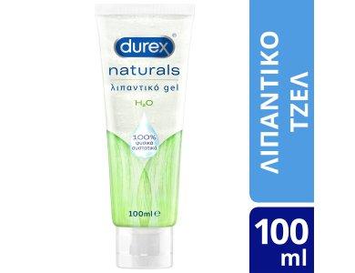 Durex Naturals, Ενυδατικό Λιπαντικό Gel με 100% Φυσικά Συστατικά, 100ml