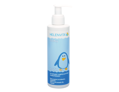 Helenvita Baby Bath Oil Cleanser, Βρεφικό Καθαριστικό Ελαιώδες Αφρόλουτρο, 200ml