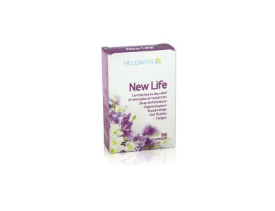 Helenvita New Life, Συμπλήρωμα Διατροφής για την αντιμετώπιση των συμπτωμάτων της Εμμηνόπαυσης, 60 caps