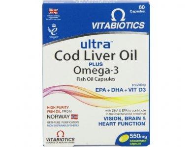 Vitabiotics Ultra 2in1 Cod liver Oil 60caps