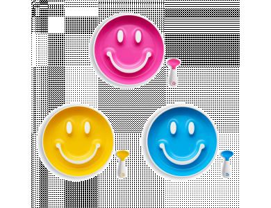 Munchkin Smile n' Scoop Σετ Πιάτο-Κουταλάκι, Σετ 1τμχ