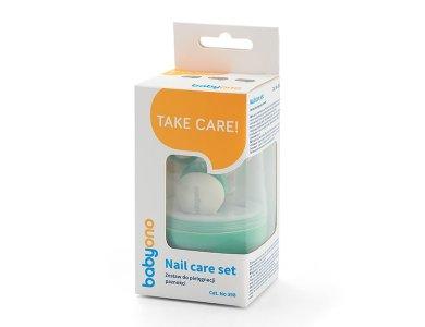 BabyOno Baby Nail Set, Σετ Περιποίησης Νυχιών για το Μωρό με Θήκη, Mint
