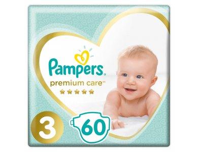 Pampers Premium Care Jumbo Pack No.3 (Midi) 6-10 kg Βρεφικές Πάνες, 60τμχ