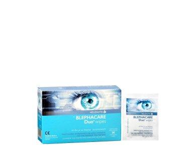Helenvita Blephacare Duo Wipes, Μαντηλάκια Καθαρισμού & Απολύμανσης για την Περιοχή των Ματιών, 14wipes