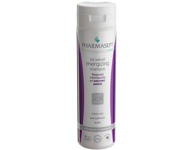 Pharmasept Τol Velvet Hair Energizing Shampoo, Τονωτικό Σαμπουάν για Κανονικά Μαλλιά, Ενδυναμώνει την Τρίχα, 250ml
