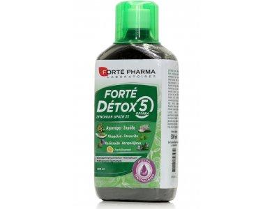 Forte Pharma Forte Detox 5 Organes Συμπλήρωμα Διατροφής με Συνολική Δράση σε 5 Όργανα, 500ml
