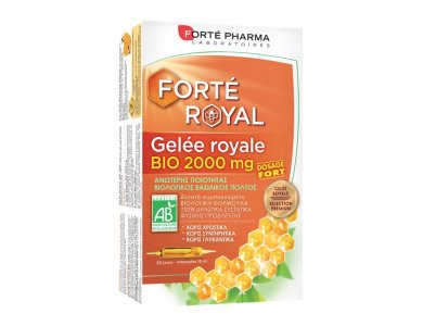 Forte Pharma Gelee Royale Bio, Βιολογικός Βασιλικός Πολτός 2000mg -20 αμπούλες
