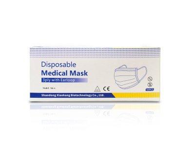 Syndesmos Μάσκα Προστασίας Προσώπου Μύτης Ενηλίκων Με Λάστιχο 3ply XK-A, 50τεμ