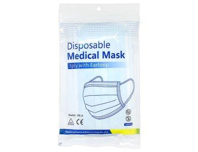 Syndesmos Μάσκα Προστασίας Προσώπου Μύτης Ενηλίκων Με Λάστιχο 3ply XK-A, 10τεμ