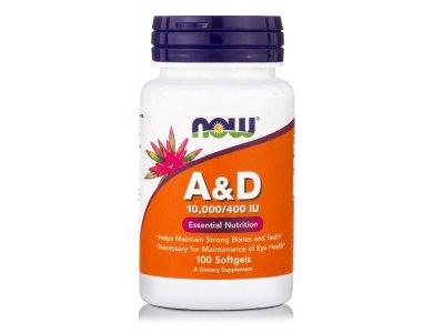 Now Vitamin A&D 10,000 IU/400IU 100softgels