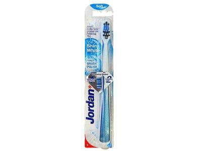 Jordan Shiny White Soft, Οδοντόβουρτσα Μαλακή για Λευκά Δόντια, 1τμχ