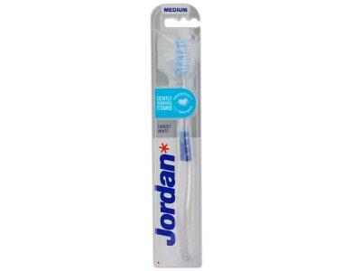 Jordan Target White Medium, Οδοντόβουρτσα Μέτρια, 1τμχ